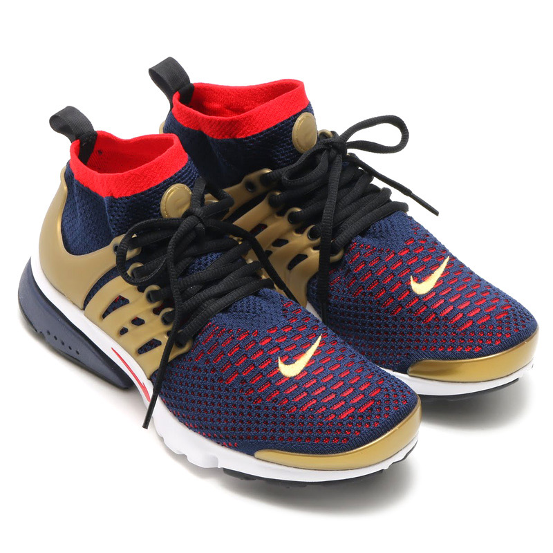 purchase cheap d0238 bec9a NIKE AIR PRESTO FLYKNIT ULTRA (Nike Air Presto Flint ultra) COLLEGE  NAVY COMET RED-METALLIC GOLD-WHITE-BLACK-WOLF GREY 16FA-I