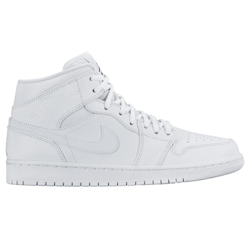 online store 86f60 72143 NIKE AIR JORDAN 1 MID (Nike Air Jordan 1 mid) WHITE BLACK-WHITE CRYOVR