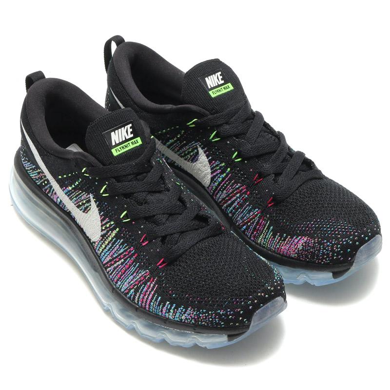 c22ff413c533 NIKE WMNS FLYKNIT MAX Nike women s Flint BLACK SUMMIT WHITE-GHOST GREEN-FIRE  PINK-BLUE GLOW 17SP-I