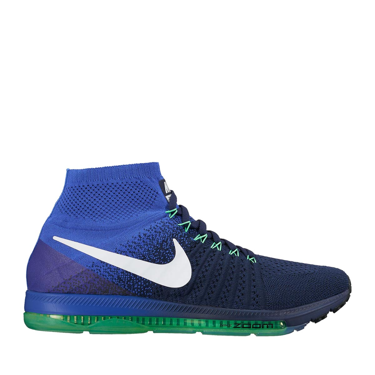 NIKE ZOOM ALL OUT FLYKNIT(ナイキ ズーム オール アウト フライニット)COLLEGE NAVY/WHITE-PARAMOUNT BLUE-ELECTRO GREEN-BLACK【メンズ スニーカー】17SP-I