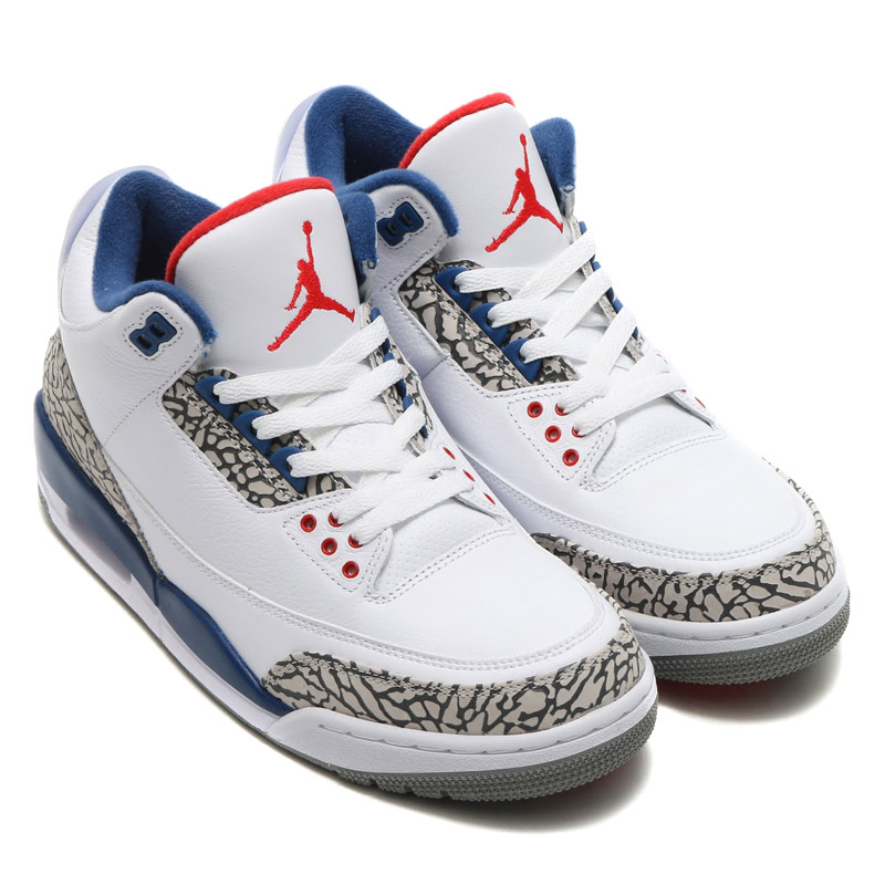 7e6e8077f60 NIKE AIR JORDAN 3 RETRO OG (Nike Air Jordan 3 retro OG) WHITE/FIRE RED-TRUE  BLUE-CEMENT GREY 16HO-S