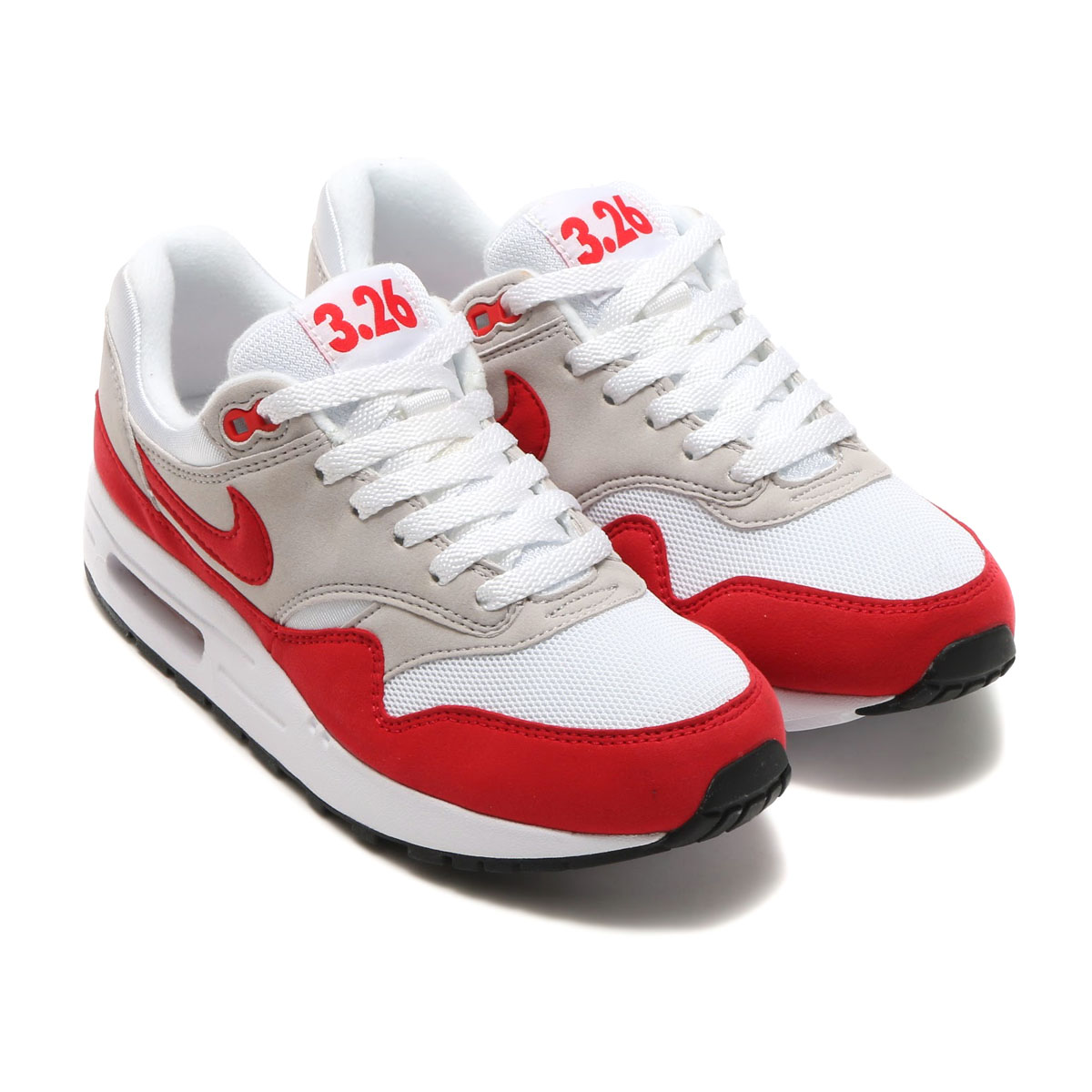 on sale 63234 6b43c NIKEAIRMAX1QS(GS)(ナイキエアマックス1QSGS)WHITE UNIVERSITYRED-NEUTRALGREY-BLACK
