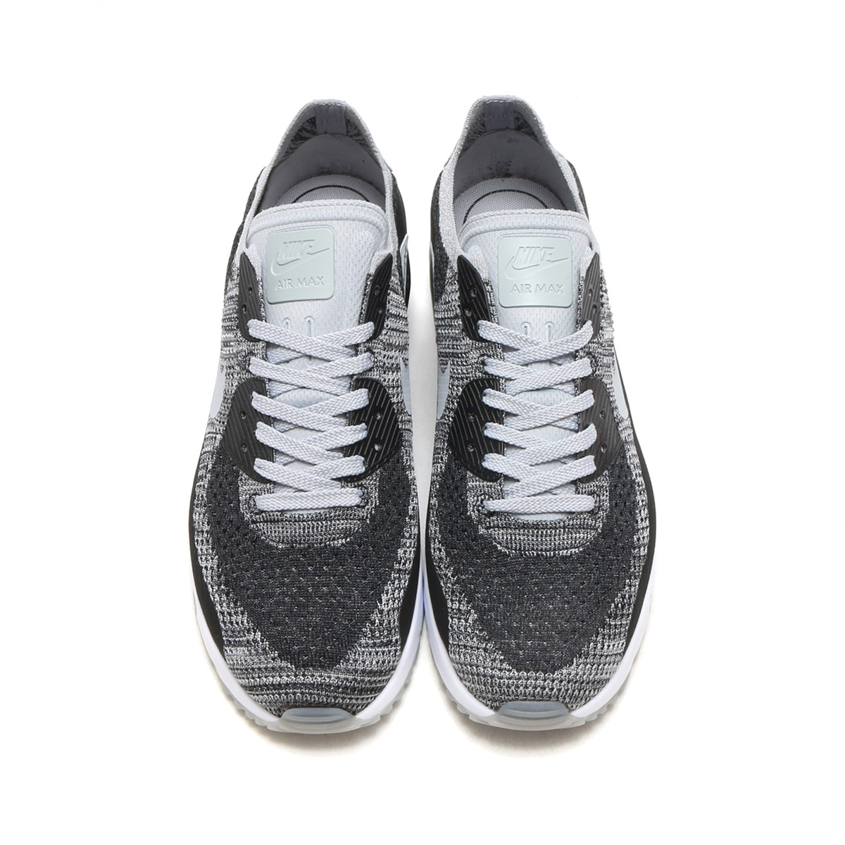 official photos 98439 55964 NIKE AIR MAX 90 ULTRA 2.0 FLYKNIT WOLF GREY-PURE PLATINUM-DK GREY-WHITE  (ナイキ エア ...