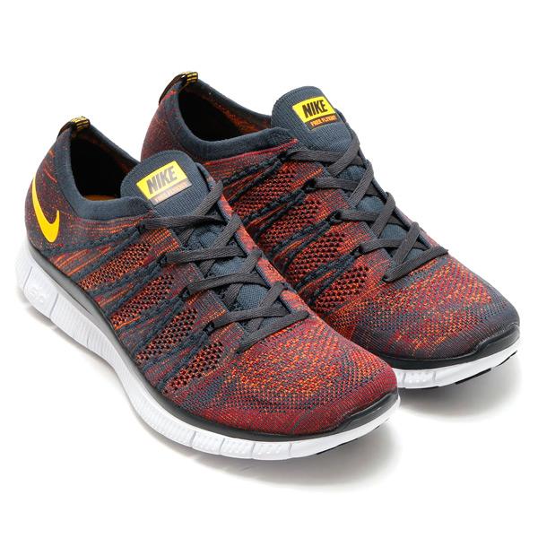 6c92750e84b7 NIKE FREE FLYKNIT NSW (Nike free Flint NSW) ANTHRACITE LASER ORANGE-GYM  RED TOTAL ORANGE BLACK WHITE 15FA-I