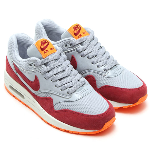 NIKE WMNS AIR MAX 1 ESSENTIAL(耐克妇女空气最大1精华)WOLF GREY/TEAM RED/TOTAL ORANGE/SUMMIT  WHITE 15FA-I