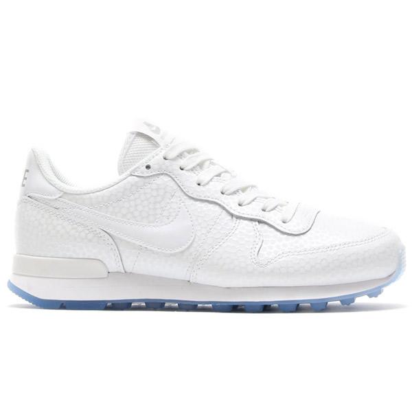 nike internationalist premium metallic silver white womens trainers