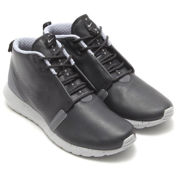 brand new 36e9c 3eae0 NIKE ROSHERUN NM SNEAKERBOOT PRM (Nike Roslin NNM sneaker boots) BLACK WOLF  GREY ...