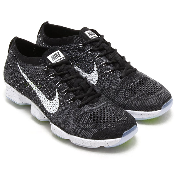 ed16a29c0e17 NIKE WMNS FLYKNIT ZOOM AGILITY Nike women s Flint zoom BLACK WHITE-DARK GREY  VOLT 16SP-I