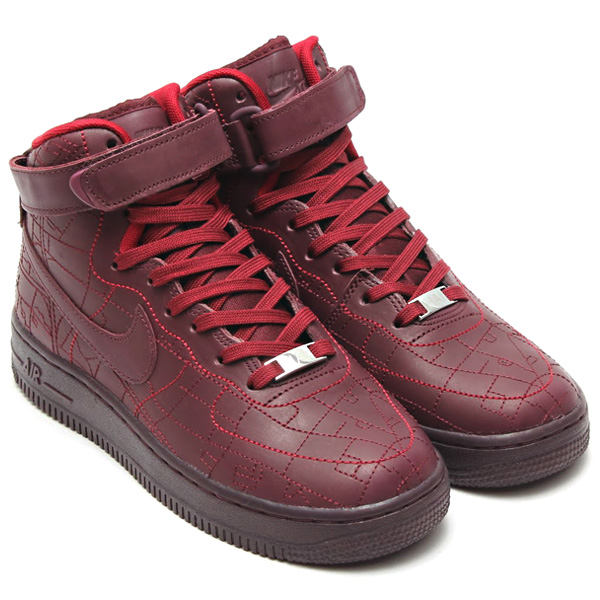 nike wmns air force 1 hi fw qs deep burgundy