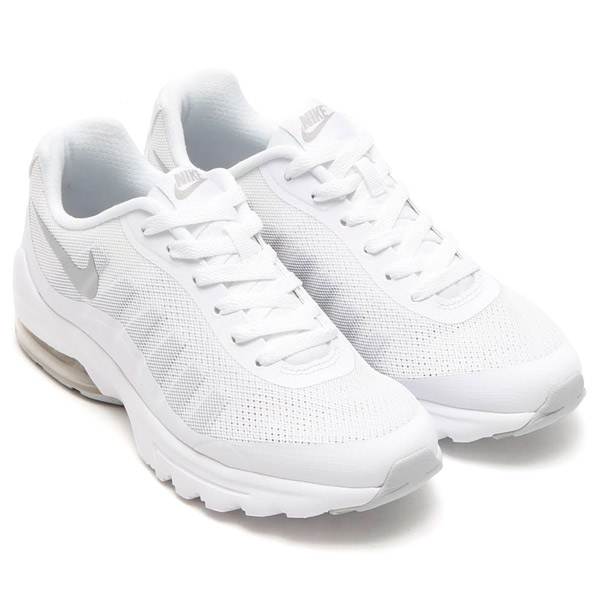 NIKE WMNS AIR MAX INVIGOR (Nike women Air Max in bigarfish) WHITE/METALLIC  SILVER 17SP-I