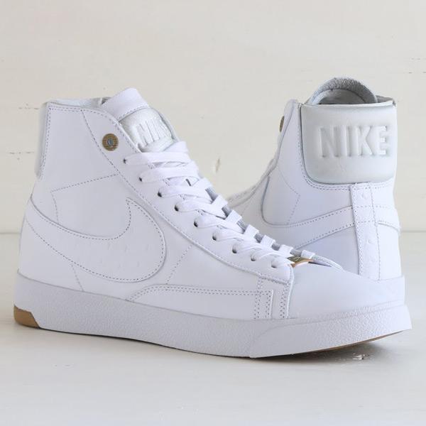NIKE BLAZER LUX PRM QS (Nike Blazer Lux premium QS) WHITE/WHITE-PURE  PLATINUM 15SP-S