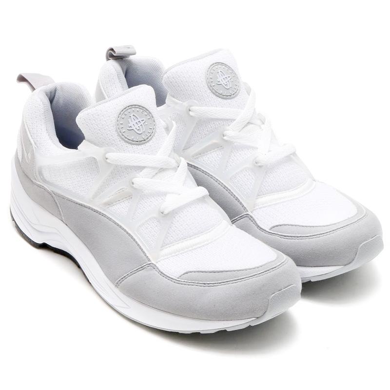 sale retailer 1cb3b e6b2a NIKE AIR HUARACHE LIGHT (Nike Air halti) WHITE WOLF GREY-BLACK 16SU-I