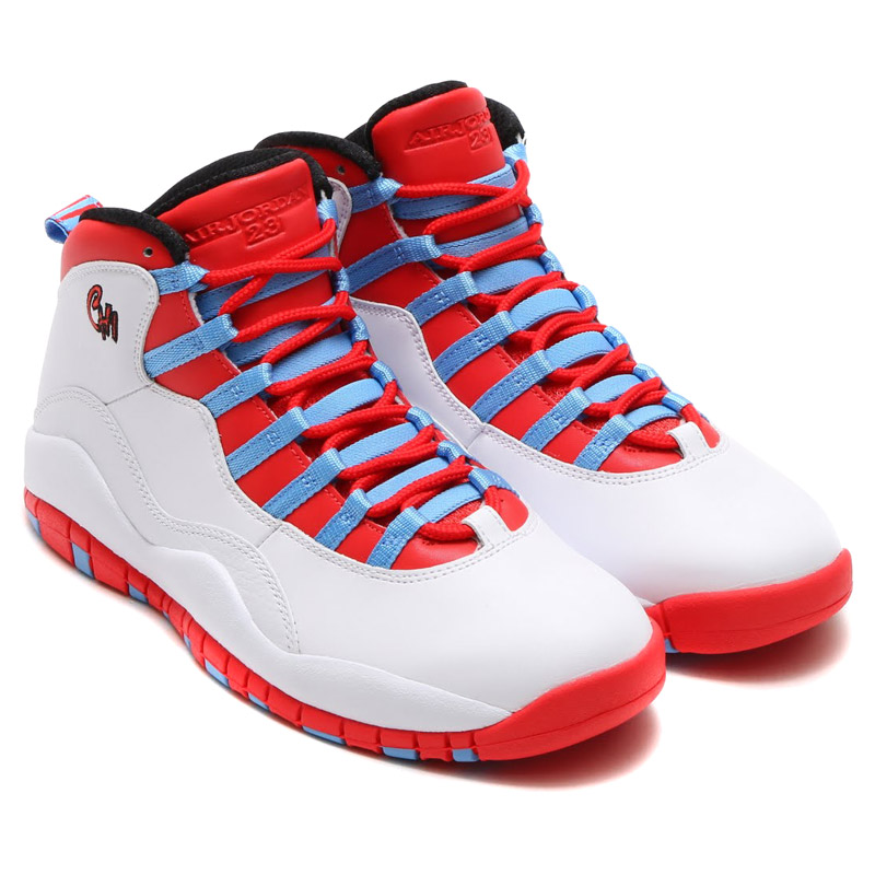 8a1004ff5a NIKE AIR JORDAN 10 RETRO (Nike Air Jordan 10 retro) WHITE/LIGHT  CRIMSON-UNIVERSITY BLUE-BLACK 16SU-S