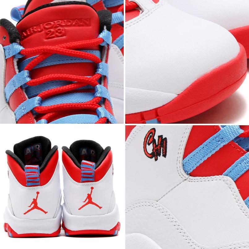 3faed1809bc7 NIKE AIR JORDAN 10 RETRO (Nike Air Jordan 10 retro) WHITE LIGHT CRIMSON-UNIVERSITY  BLUE-BLACK 16SU-S