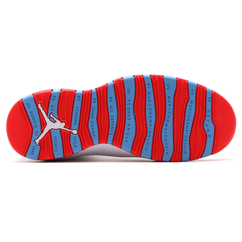 NIKE AIR JORDAN 10 RETRO (Nike Air Jordan 10 retro) WHITE LIGHT CRIMSON-UNIVERSITY  BLUE-BLACK 16SU-S 3ac0e33a6