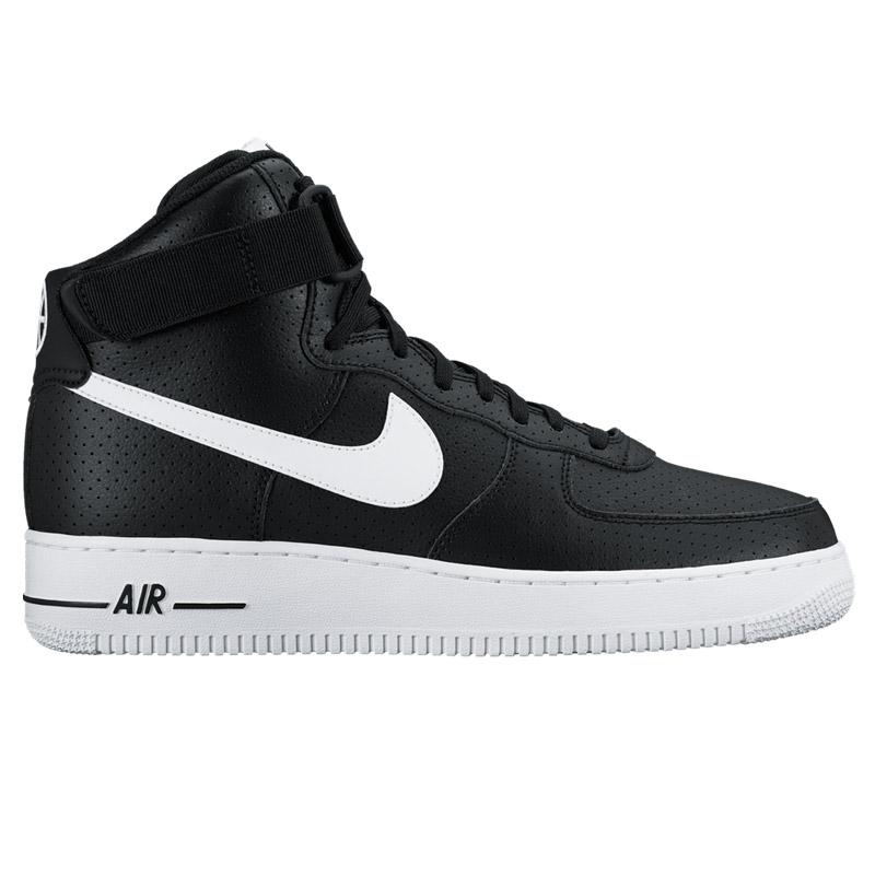 NIKE AIR FORCE 1 HIGH   07 (Nike Air Force 1 Hi 07) BLACK WHITE-WHITE 16FA-I 6d1d1b0ff
