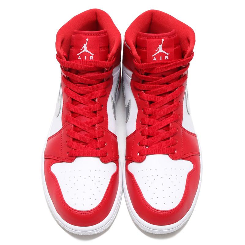 d6d30e3aa104f3 NIKE AIR JORDAN 1 RETRO HIGH (Nike Air Jordan 1 retro Hi) GYM RED METALLIC  SILVER-WHITE 16FA-I
