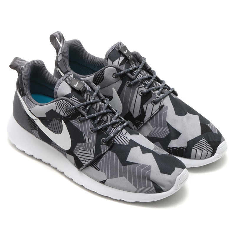 on sale 9fbc8 3fbb8 NIKE ROSHE ONE PRINT (print one Nike and Ros) DARK GREA white-gamma BLUE  16FA-I