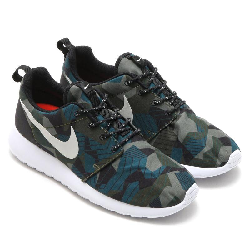 NIKE ROSHE ONE PRINT (print one Nike and Ros) CARGO KHAKILIGHT BONE WHITE 16FA I