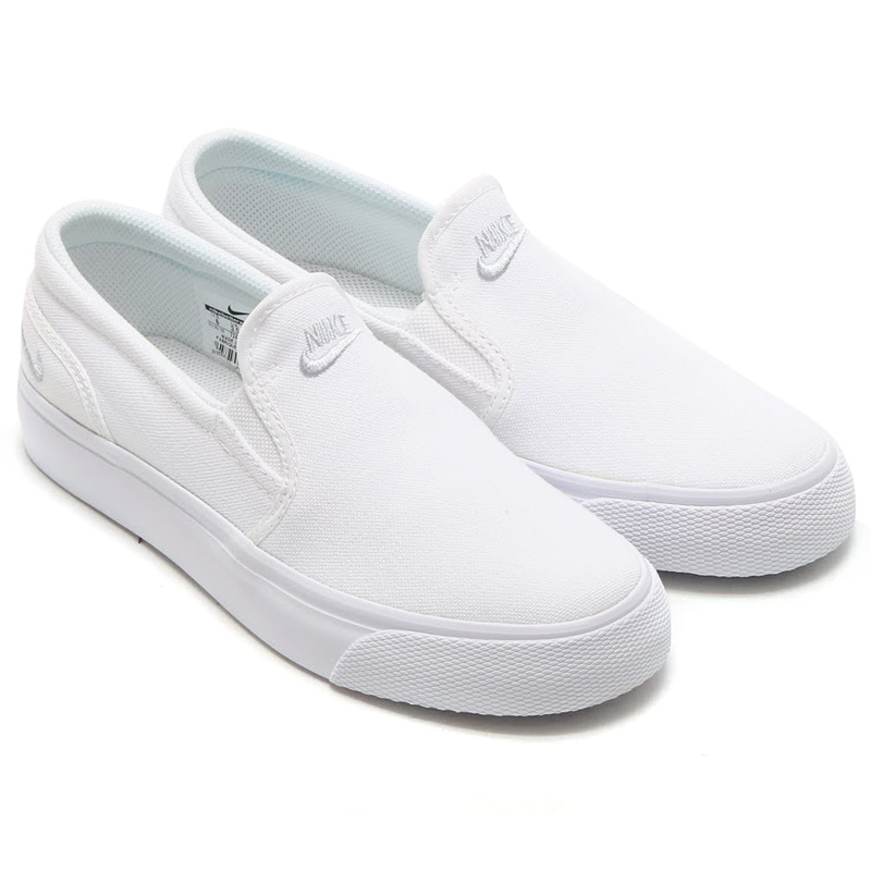 36e9dca1995c NIKE WMNS TOKI SLIP CANVAS (women s Nike Toki slips canvas) WHITE METALLIC  PLATINUM 16SU-I