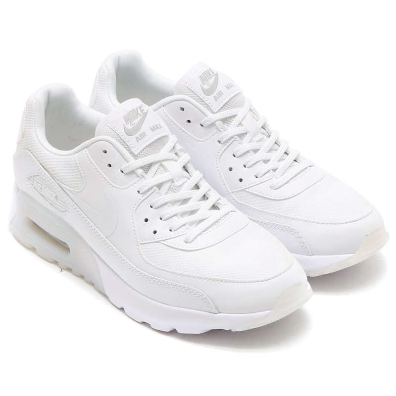 NIKE WMNS AIR MAX 90 ULTRA ESSENTIAL (Nike women s Air Max 90 ultra  essential) WHITE WHITE-METALLIC SILVER 16HO-I 55571316b