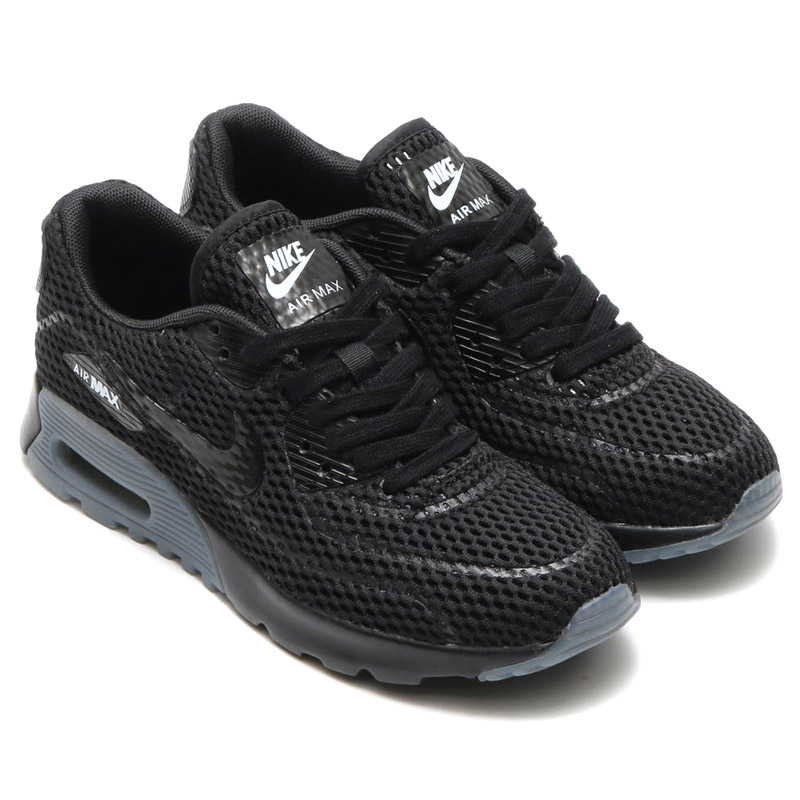 low priced 0e859 f2adc NIKE WMNS AIR MAX 90 ULTRA BR (Nike women s Air Max 90 ultra Breeze)  BLACK COOL GREY 16SU-I