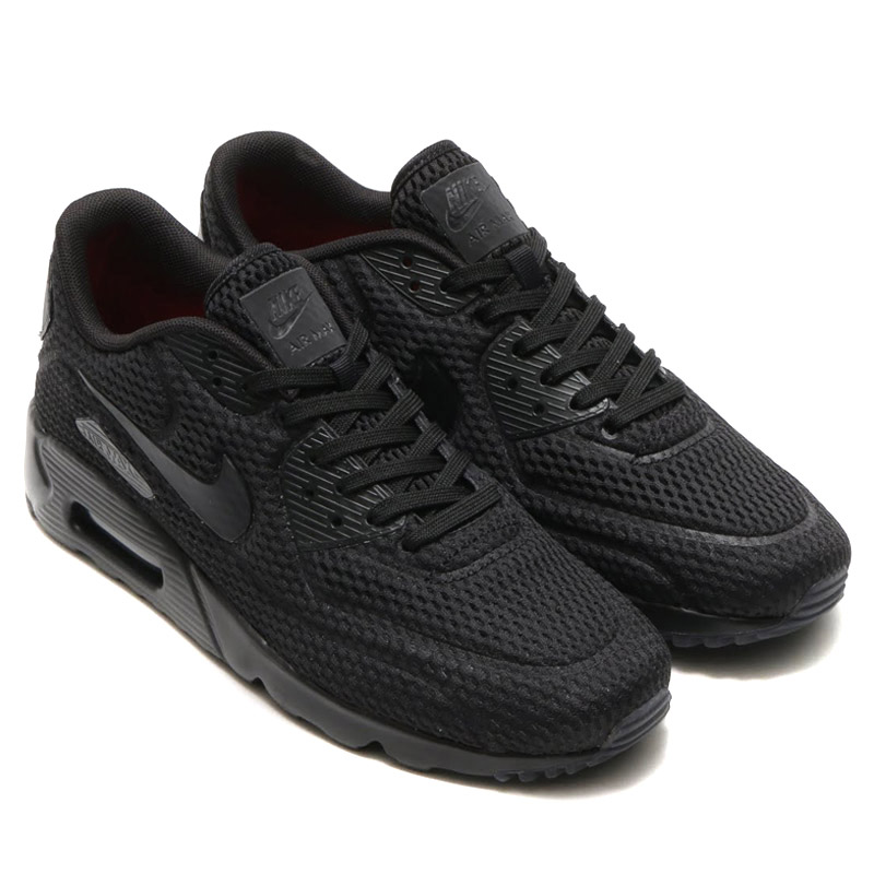 hot sale online 35f44 a487e NIKE AIR MAX 90 ULTRA BR (Nike Air Max 90 ultra Breeze)  BLACK BLACK-BLACK-TOTAL CRIMSON 16SU-I