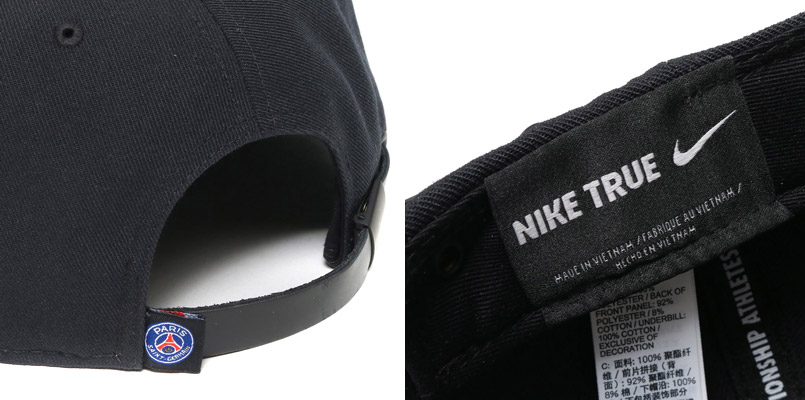 NIKE PSG SEASONAL TRUE CAP (나이키 PSG 시즈나르트르캐프) BLACK/BLACK/BLACK-WHITE 16 FA-I