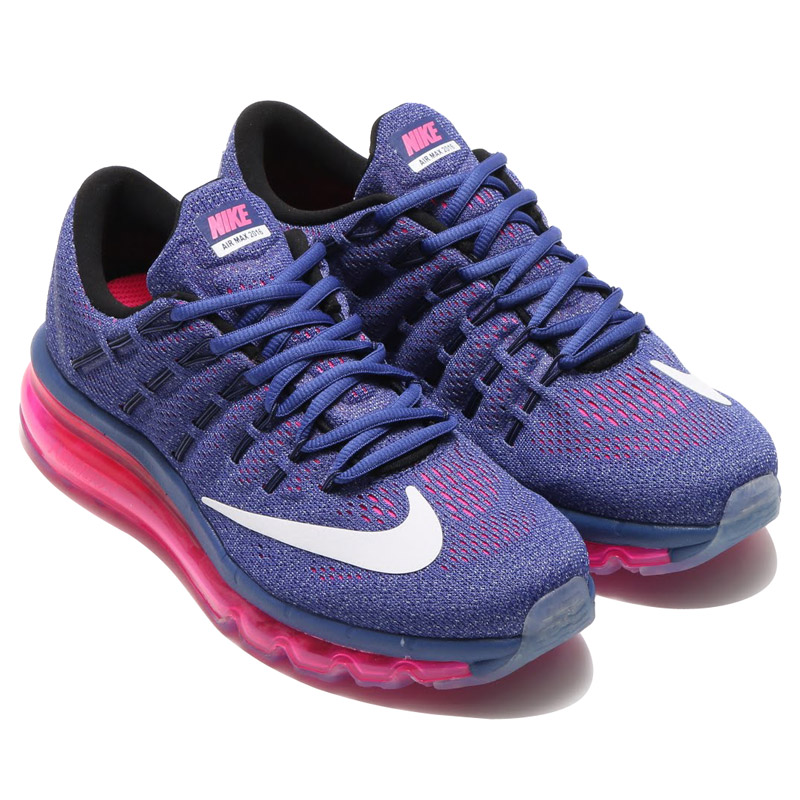 best cheap 26f03 4a1e1 NIKE WMNS AIR MAX 2016 (Nike women s Air Max 2016) DARK PURPLE DUST WHITE-PINK  POW-BLUE GRAPHITE-BLACK 16SU-I