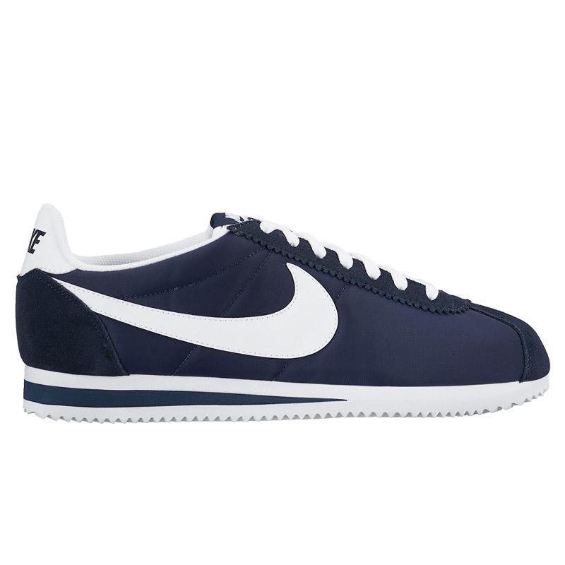 outlet store 352d0 d855f NIKE CLASSIC CORTEZ NYLON (Nike classic Cortez nylon) OBSIDIAN WHITE 16FA-I