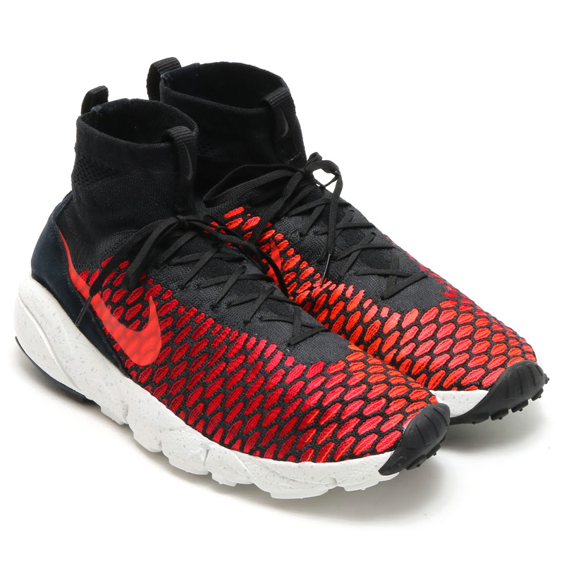 new product 241ee 94155 NIKE AIR FOOTSCAPE MAGISTA FLYKNIT (Nike Air foot Cape Magister Flint) BLACK BRIGHT  CRIMSON-GYM RED-COOL GREY-WHITE 16SP-S