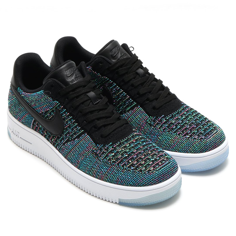 sports shoes b6370 f43b1 NIKE AF1 ULTRA FLYKNIT LOW (flint the Nike Air Force 1 ultra low) BLACKBLUE  LAGOON-VOLTAGE GREEN-PINK BLAST-WHITE 16SU-I