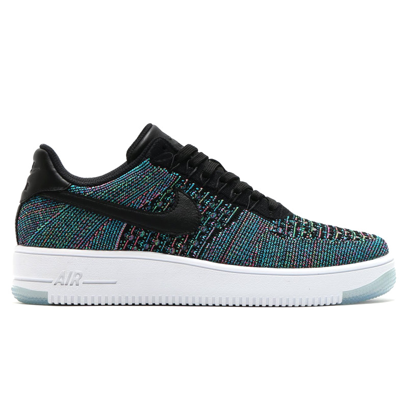 NIKE AF1 ULTRA FLYKNIT LOW (flint the Nike Air Force 1 ultra low) BLACK/BLUE LAGOON-VOLTAGE GREEN-PINK BLAST-WHITE 16SU-I