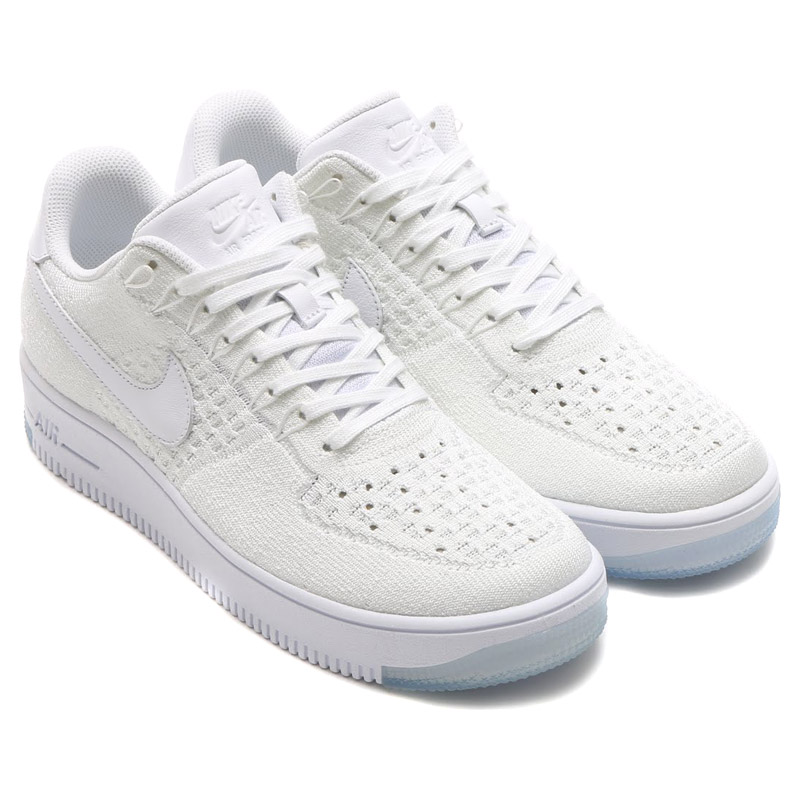 ec66590340db NIKE AF1 ULTRA FLYKNIT LOW (flint the Nike Air Force 1 ultra low) WHITE  WHITE-ICE 16SU-I