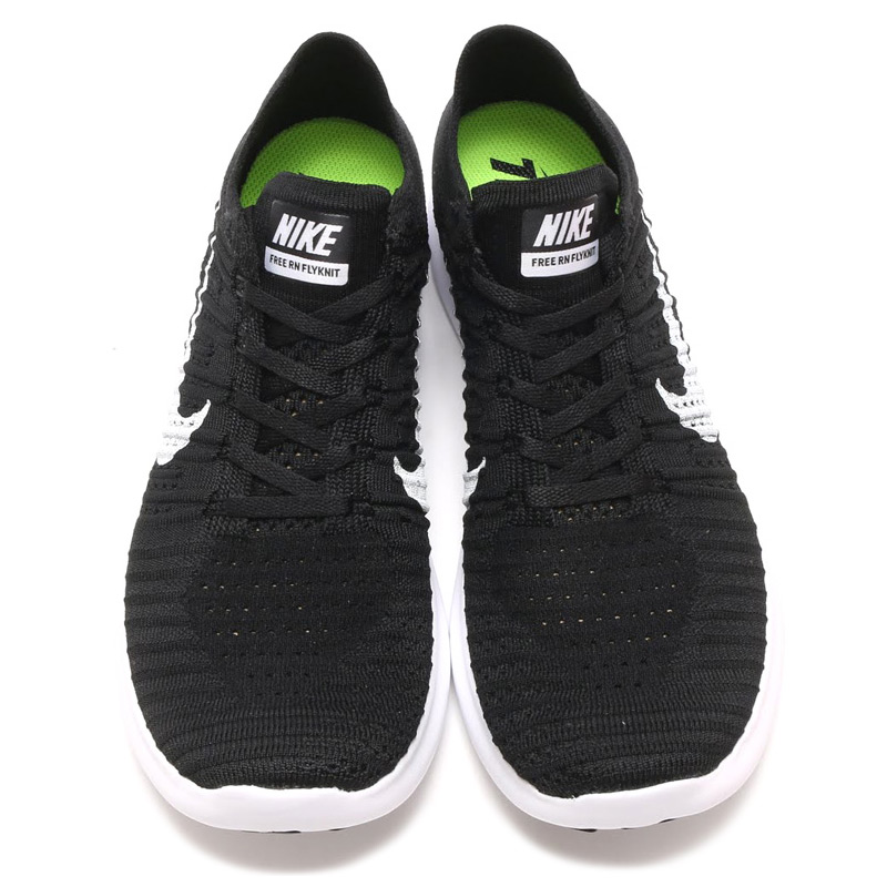 6af1e05554af atmos-tokyo  NIKE FREE RN FLYKNIT (Nike free run Flint) BLACK WHITE ...