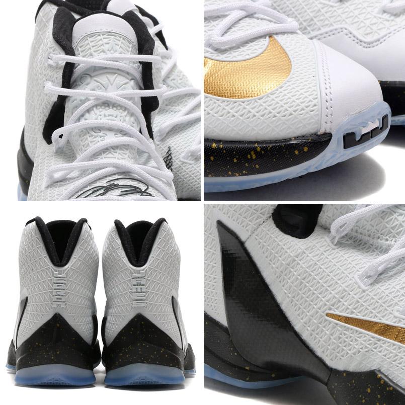 d53e170b5a5 NIKE LEBRON XIII ELITE (Nike LeBron 13 elite) WHITE METALLIC GOLD-BLACK 16SU -I