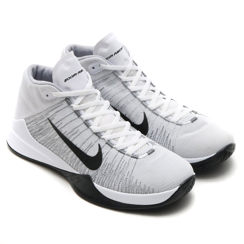 sneakers for cheap da393 529c3 NIKE ZOOM ASCENTION (Nike zoom Ascension) WHITE BLACK-WOLF GREY-STEALTH  16FA-I