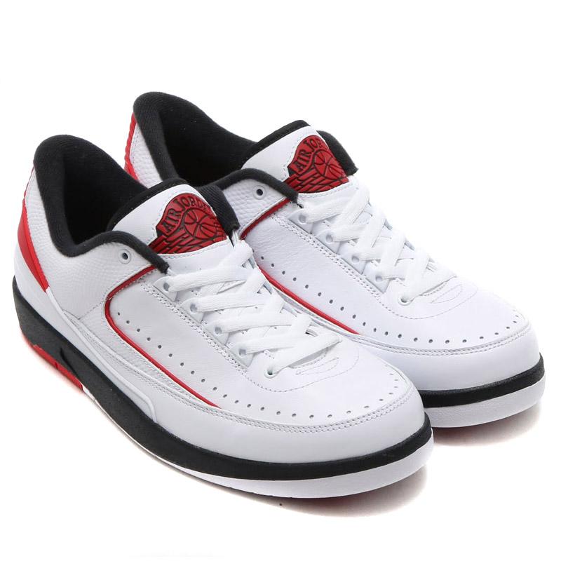 fbb6bb6554651e NIKE AIR JORDAN 2 RETRO LOW (Nike Air Jordan 2 retro low) WHITE VARSITY RED- BLACK 16SU-S