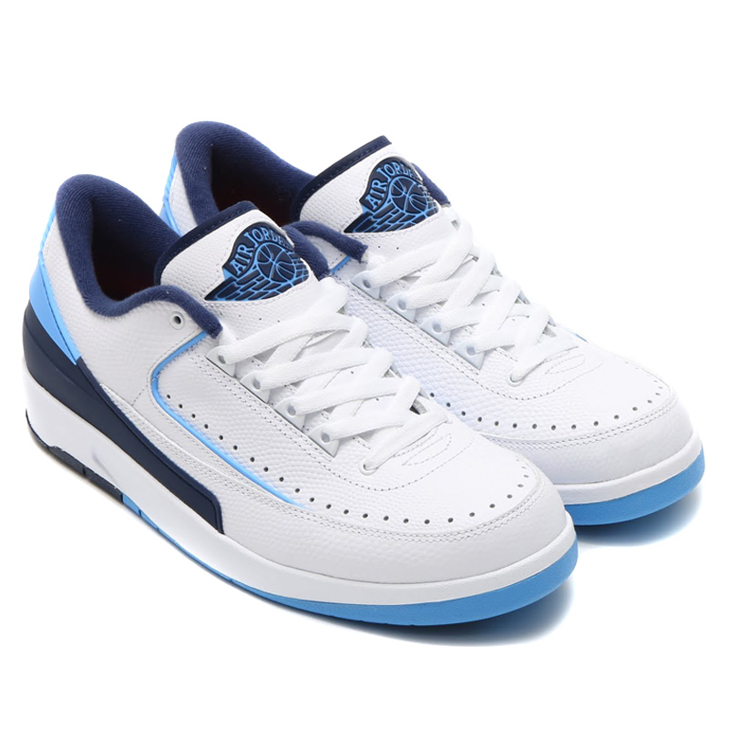 info for 62aef 6d9d5 NIKE AIR JORDAN 2 RETRO LOW (Nike Air Jordan 2 retro low) WHITE UNIVERSITY  BLUE-MIDNIGHT NAVY-INFRARED 23 16FA-S