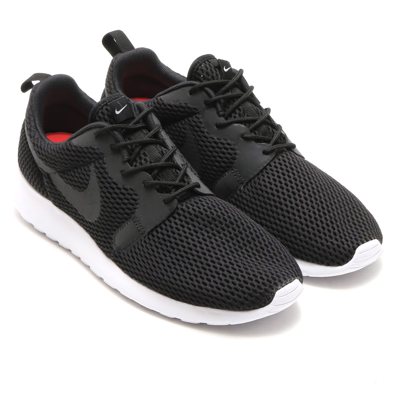 official photos ee33f 5df81 NIKE ROSHE ONE HYP BR (Nike Ros one hyper Breeze) BLACK BLACK WHITE 16SU-I