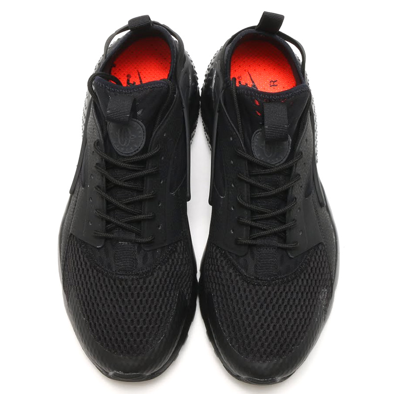 NIKE AIR HUARACHE RUN ULTRA BR (Nike Air halti run ultra Breeze) BLACK/BLACK 16SU-I