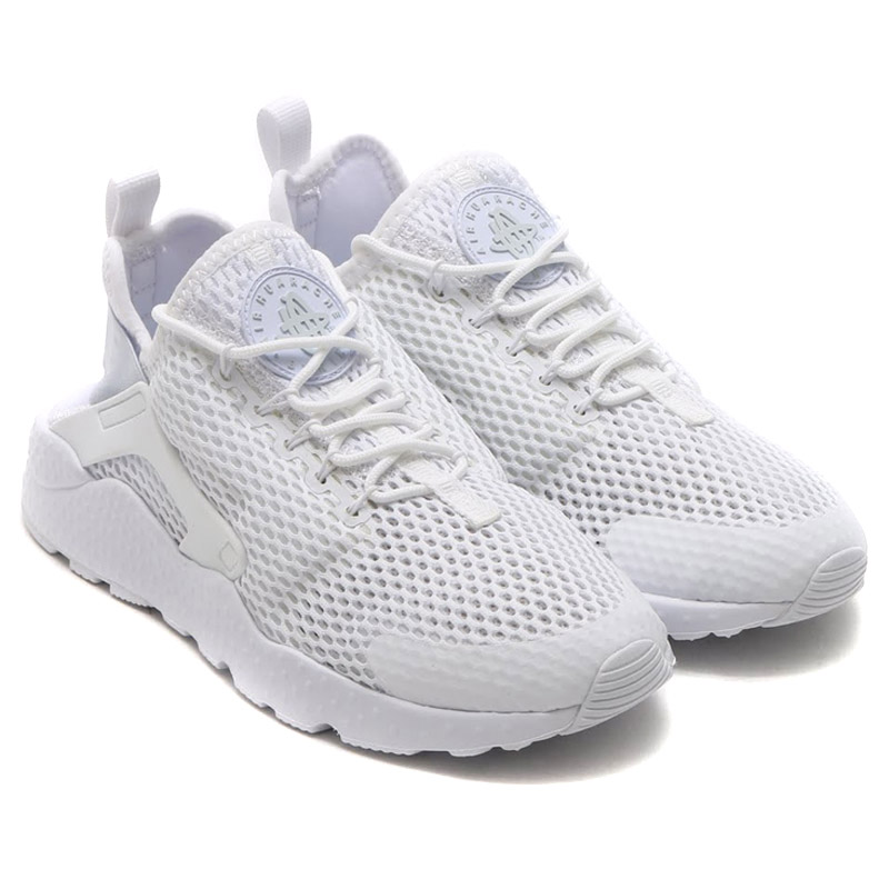 NIKE WMNS AIR HUARACHE RUN ULTRA BR (Nike wmns air halti run ultra Breeze)  WITE WITE-pure PLATINUM 16SU-I caab931b5a1d
