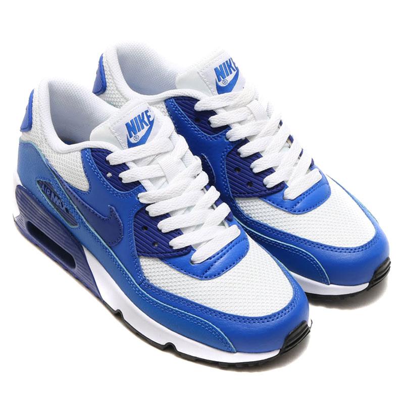 size 40 c838f 1f30b NIKE AIR MAX 90 MESH GS (90 mesh Nike Air Max GS) WHITE  ...