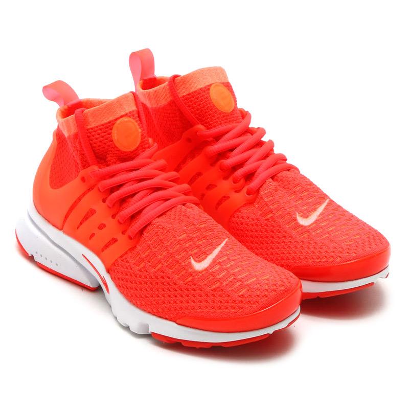 sports shoes 474b5 19519 NIKE WMNS AIR PRESTO FLYKNIT ULTRA (Nike Womens air Presto Flint ultra) BRIGHT  MANGO BRIGHT CRIMSON 16SU-S