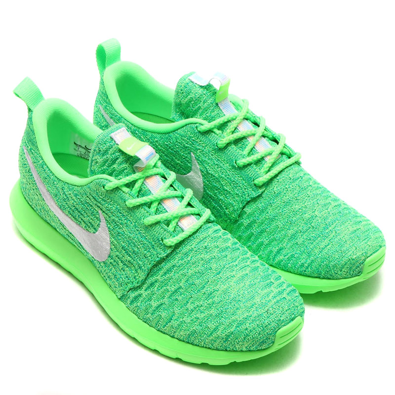 sale retailer cbb3f e5e2c NIKE WMNS ROSHE NM FLYKNIT (Nike women s Ros NM Flint) VOLTAGE GREEN WHITE-LUCID  GREEN 16FA-I
