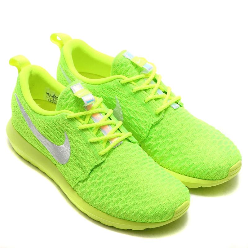 fe97ff6e9b35 NIKE WMNS ROSHE NM FLYKNIT (Nike women s Ros NM Flint) VOLT WHITE-ELECTRIC  GREEN 16FA-I