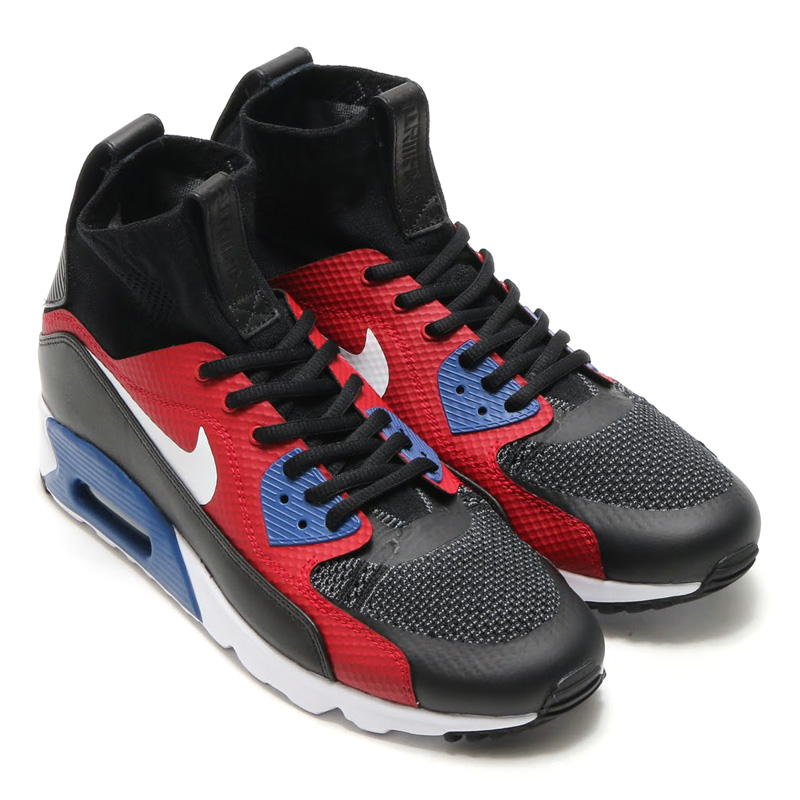 NIKE AIR MAX 90 ULTRA SUPERFLY (Nike Air Max 90 ultra super fly T)  BLACK/DARK GREY-WHITE 16SU-S