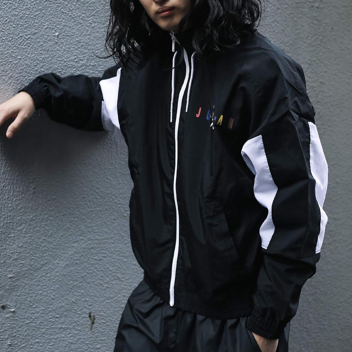 NIKE AS M J SPRTDNA HBR JKT(ナイキ ジョーダン SPRTDNA HBR ジャケット)BLACK/WHITE【メンズ ジャケット】20SP-S