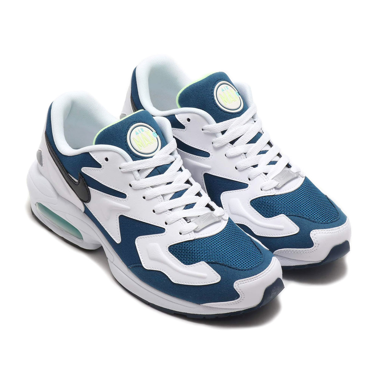 NIKE AIR MAX2 LIGHT(ナイキ エア マックス2 ライト)VALERIAN BLUE/BLACK-WHITE-AURORA GREEN【メンズ スニーカー】20SP-I