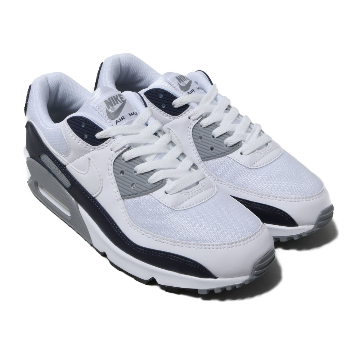 NIKE AIR MAX 90(ナイキ エア マックス 90)WHITE/WHITE-PARTICLE GREY-OBSIDIAN【メンズ スニーカー】20SU-I